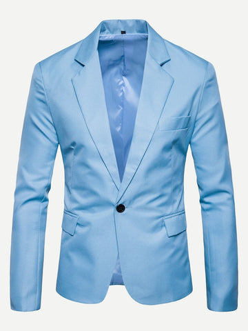 Single Button Blue Blazer