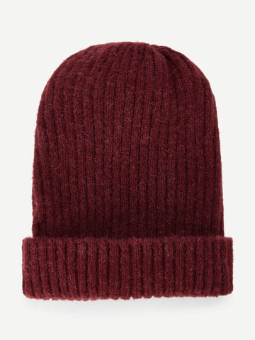 Men Plain Beanie Hat