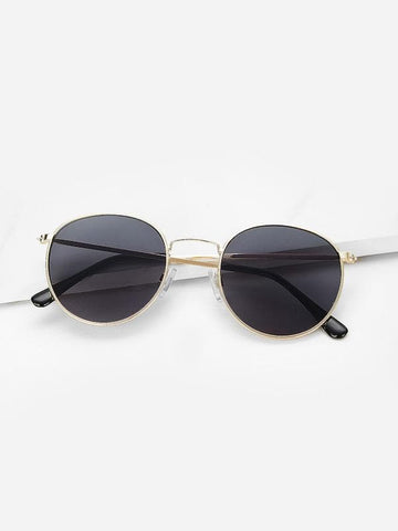 Black Metal Frame Sunglasses