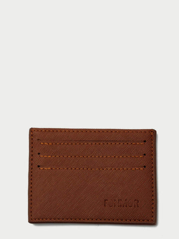 PU Leather Brown Card Holder