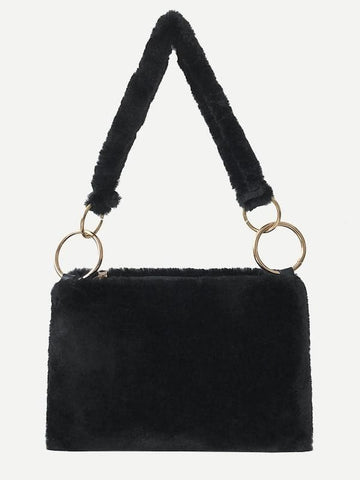 Faux Fur Fuzzy Shoulder Bag