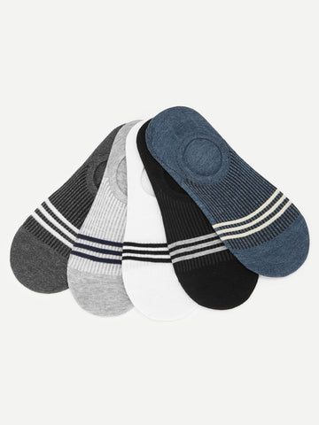 Cotton Striped Invisible Socks 5pairs