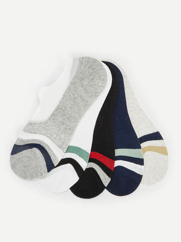 Stripe Pattern Invisible Socks 5pairs