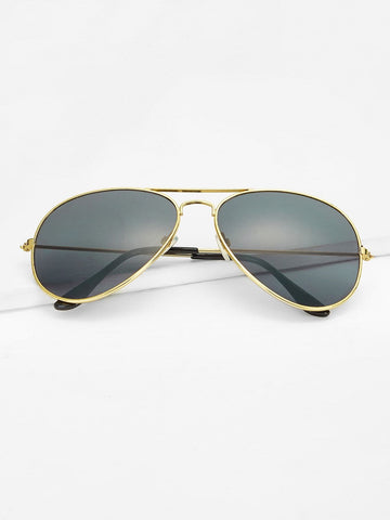 Grey Top Bar Metal Frame Sunglasses