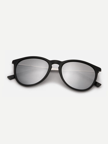 Plain Frame Tinted Lens Sunglasses