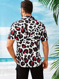 Short Sleeve Leopard Cheetah Print Shirt
