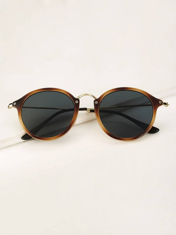 Two Tone Frame Tinted lens Sunglasses