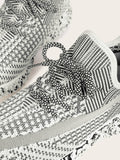Grey Almond Toe Striped Detail Lace-up Front Trainers