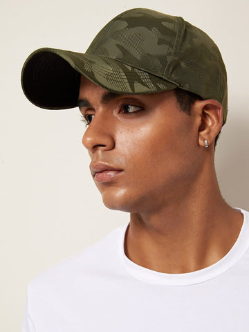 Army Green Camouflage Pattern Baseball Cap