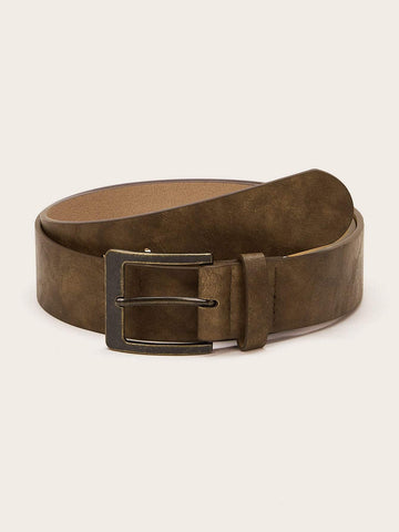 PU Retro Square Buckle Belt