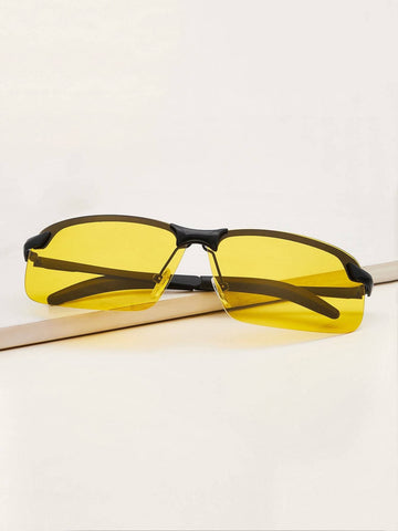 Yellow Tinted Lens Sunglasses