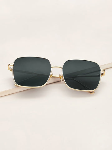 Green Metal Frame Sunglasses