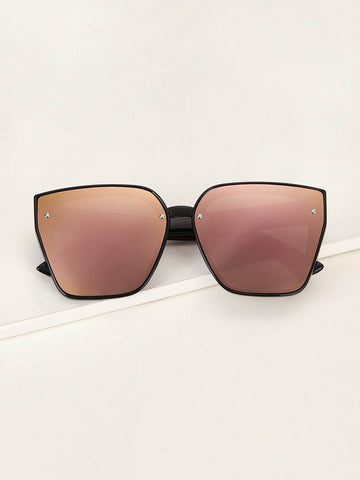 Screw Decor Mirror Lens Sunglasses