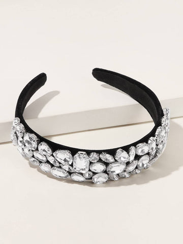 Silver Rhinestone Decor Headband
