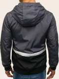 Cut And Sew Drawstring Windbreaker Jacket