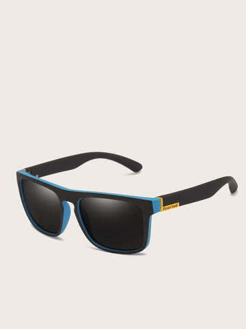 Black Two Tone Flat Top Sunglasses