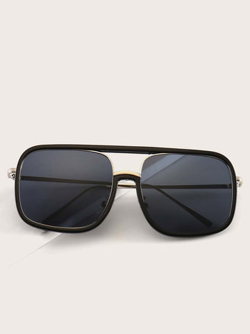 Black Square Top Bar Sunglasses
