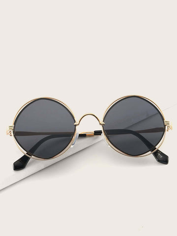 Boho Metal Round Retro Frame Sunglasses