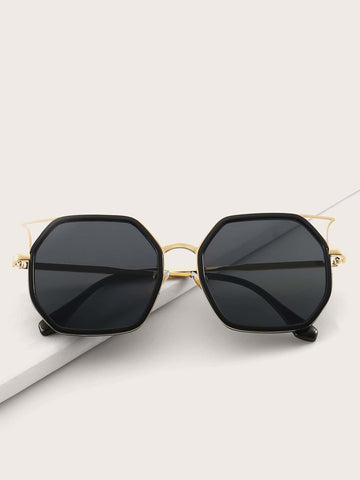 Black Ear Frame Sunglasses