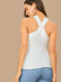 Solid Slim Fitted Halter Top