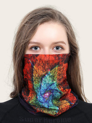 Tie Dye Pattern Face Protection Mask Scarf