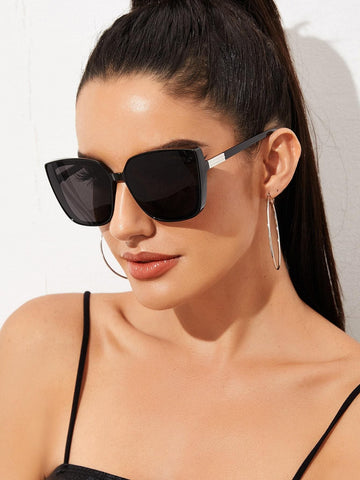 Black Square Acrylic Frame Sunglasses