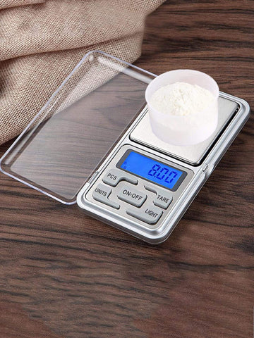 1pc Stainless Steel Mini Flour Electronic Scale