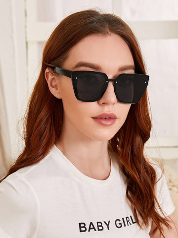 Acrylic Frame Black Sunglasses