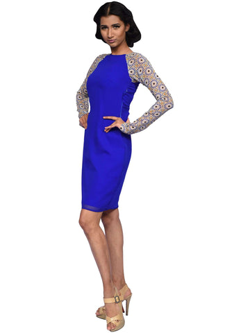 Cobalt Blue Dress By Anita Nitin
