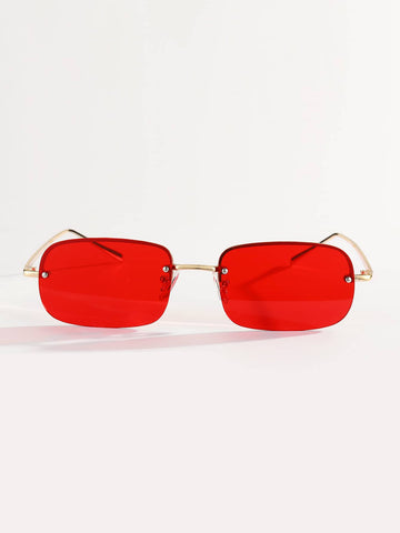 Rimless Boho Tinted Lens Sunglasses