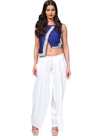 High-low Blouse & Pant With Flap By Anvita Thakkar
