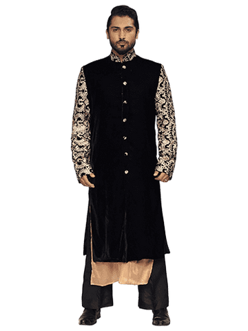 Black Sherwani By Arshi Jamal