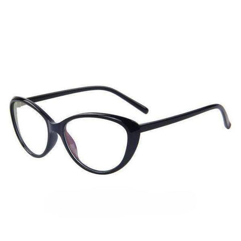 Cat's Eye Print Frame Clear Glasses