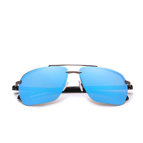 Rimless Mirror Lens Polarized Sunglasses
