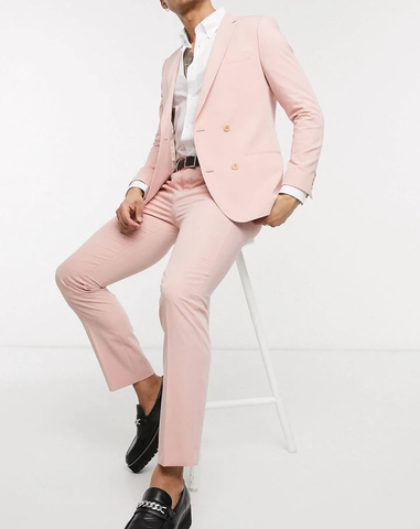 Dusty Pink Slim Fit Single Breasted Blazer Suit
