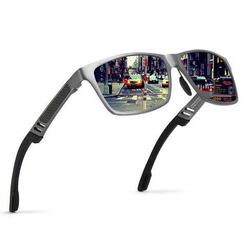 Aluminum Magnesium Mirror Sport Driving Original Polarized Sunglasses