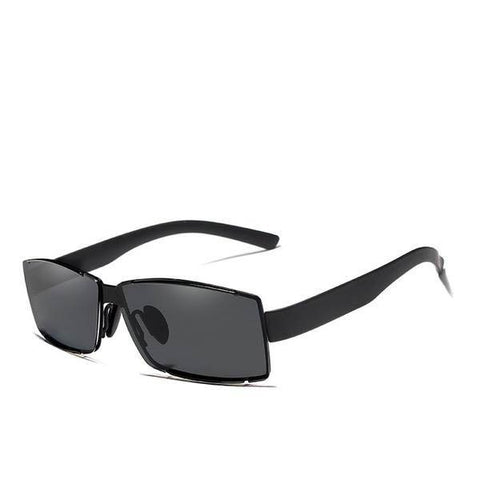 Rimless Driver Shades Rectangle UV400 Polarized Sunglasses