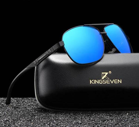 Driving Blue Mirror Polarized Aluminum Sunglasses