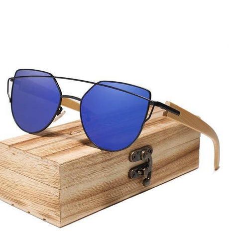 Cat Eye Handmade Wood Bamboo Sunglasses