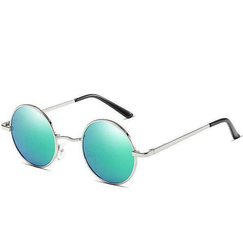 Retro Round Polarised UV400 Protection Vintage Metal Sun Glasses