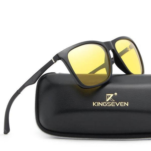 Night Vision Aluminium Yellow Lens Driving Anti-Glare Polarized Sunglasses