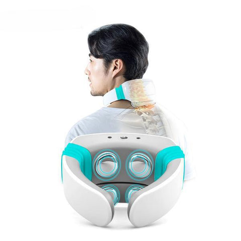 Electric pulse Acupuncture Neck massager health care Cervical therapy instrument