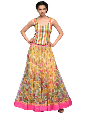 Multi Colour Indo Western Dress By Archana Nallam