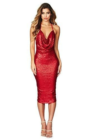 Party Sequin Red Dress