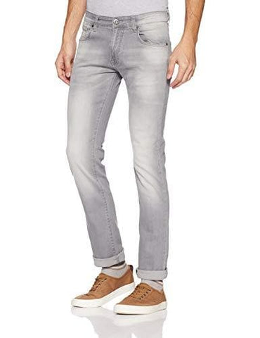 Pepe Acid Wash Zip Fly Slim Fit Jeans