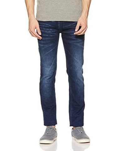 Pepe Acid Washed Zip Fly Slim Fit Jeans