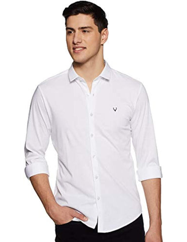 White Allen Solly Slim fit Casual Shirt