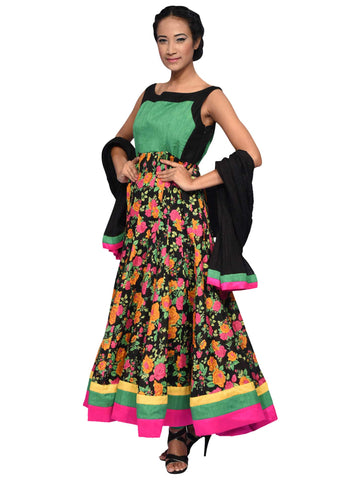 Multi Color Anarkali By Archana Nallam