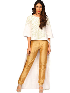 White & Gold Apparel Set By Anvita Thakkar