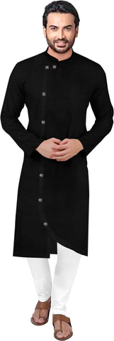 Round Neck Solid Straight Kurta